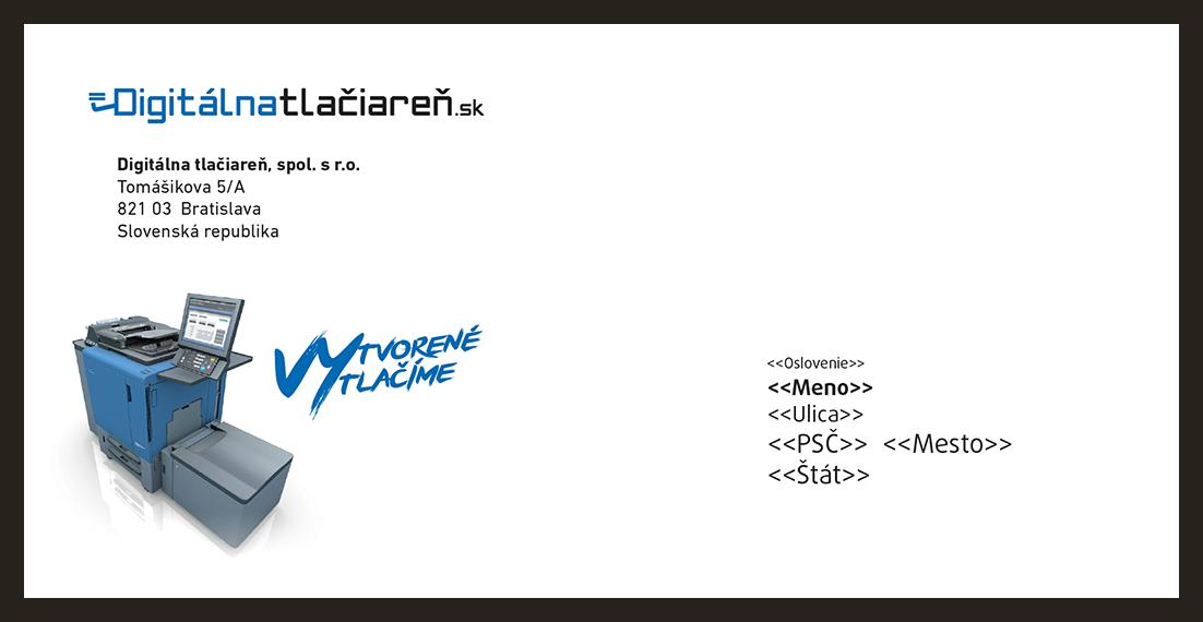 obálka so vzorom adresy