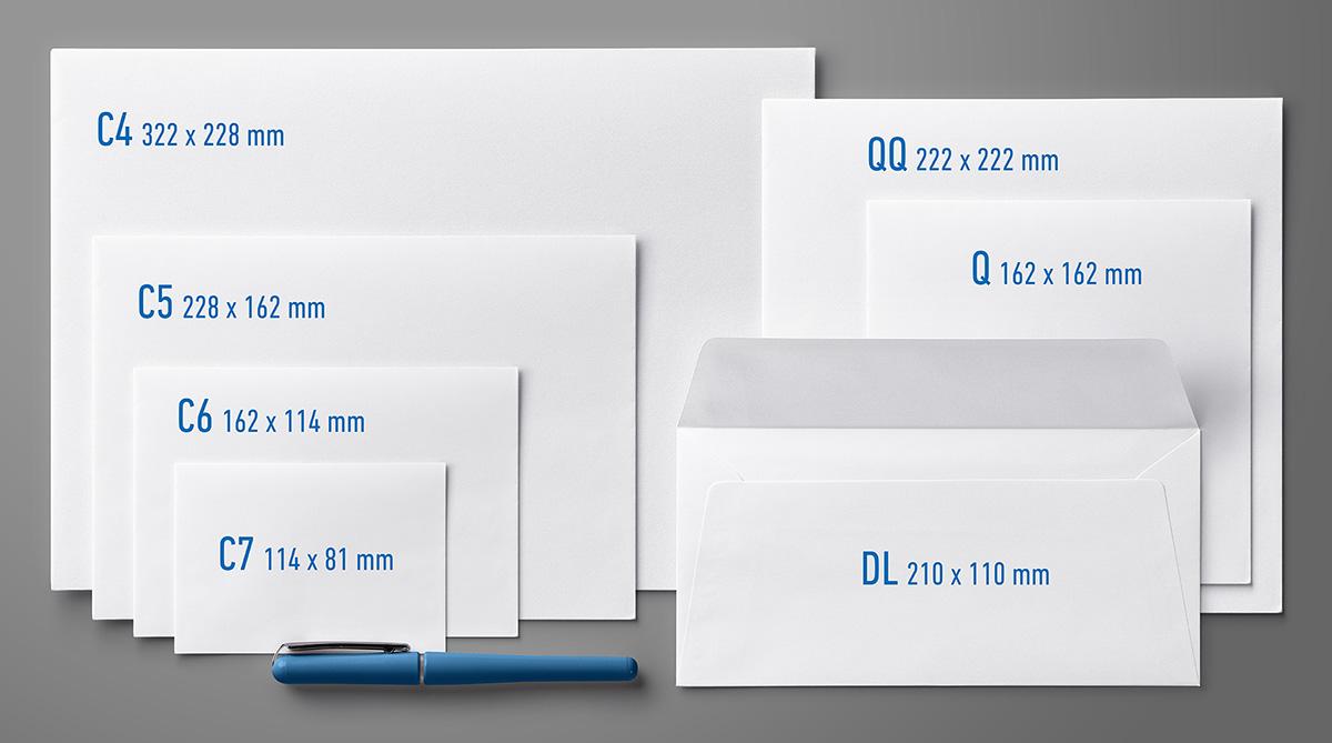 veľkosť obálky